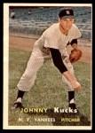 1957 Topps #185  Johnny Kucks  Front Thumbnail