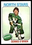 1975 Topps #53  Dennis O'Brien   Front Thumbnail