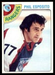1978 Topps #100  Phil Esposito  Front Thumbnail