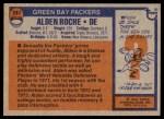 1976 Topps #241  Alden Roche  Back Thumbnail