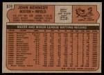1972 Topps #674  John Kennedy  Back Thumbnail