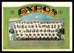 1972 Topps #582   Expos Team Front Thumbnail