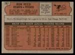 1972 Topps #787  Ron Reed  Back Thumbnail