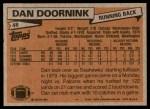 1981 Topps #48  Dan Doornink  Back Thumbnail