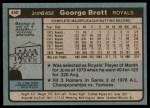1980 Topps #450  George Brett  Back Thumbnail