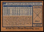1978 Topps #519  Brian Downing  Back Thumbnail
