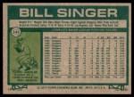 1977 Topps #346  Bill Singer  Back Thumbnail