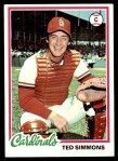 1978 Topps #380  Ted Simmons  Front Thumbnail