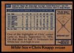 1978 Topps #361  Chris Knapp  Back Thumbnail