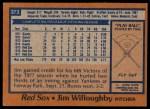 1978 Topps #373  Jim Willoughby  Back Thumbnail