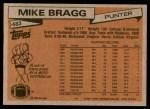 1981 Topps #483  Mike Bragg  Back Thumbnail