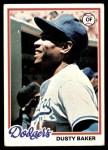 1978 Topps #668  Dusty Baker  Front Thumbnail