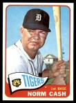 1965 Topps #153  Norm Cash  Front Thumbnail