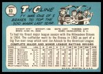 1965 Topps #63  Ty Cline  Back Thumbnail