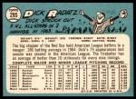 1965 Topps #295  Dick Radatz  Back Thumbnail