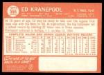 1964 Topps #566  Ed Kranepool  Back Thumbnail