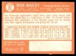 1964 Topps #91  Bob Bailey  Back Thumbnail