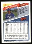 1993 Topps #75  Juan Guzman  Back Thumbnail