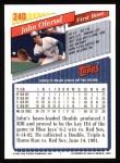 1993 Topps #240  John Olerud  Back Thumbnail