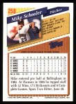 1993 Topps #258  Mike Schooler  Back Thumbnail