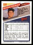 1993 Topps #530  Sterling Hitchcock  Back Thumbnail