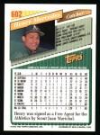 1993 Topps #602  Henry Mercedes  Back Thumbnail