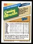 1993 Topps #804  Jose Valentin  Back Thumbnail