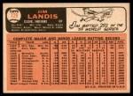 1966 Topps #128  Jim Landis  Back Thumbnail