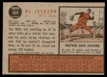 1962 Topps #464  Al Jackson  Back Thumbnail
