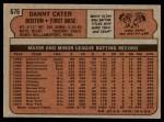 1972 Topps #676  Danny Cater  Back Thumbnail