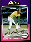 1975 Topps #407  Herb Washington  Front Thumbnail