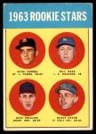 1963 Topps #544   -  Rusty Staub / Dick Phillips / Bill Haas / Duke Carmel Rookie Stars   Front Thumbnail