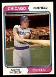 1974 Topps #452  Gene Hiser  Front Thumbnail