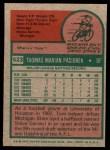 1975 Topps #523  Tom Paciorek  Back Thumbnail