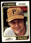 1974 Topps #237  Ken Brett  Front Thumbnail