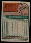 1975 Topps #123  Johnny Briggs  Back Thumbnail