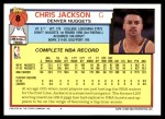 1992 Topps #8  Chris Jackson  Back Thumbnail