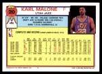 1992 Topps #20  Karl Malone  Back Thumbnail