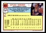 1992 Topps #63  Spud Webb  Back Thumbnail