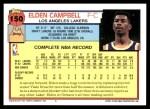 1992 Topps #150  Elden Campbell  Back Thumbnail