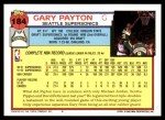 1992 Topps #184  Gary Payton  Back Thumbnail
