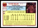 1992 Topps #227  Oliver Miller  Back Thumbnail