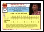 1992 Topps #296  LaBradford Smith  Back Thumbnail