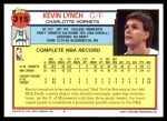 1992 Topps #315  Kevin Lynch  Back Thumbnail