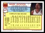1992 Topps #325  Mark Jackson  Back Thumbnail