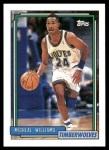 1992 Topps #351  Micheal Williams  Front Thumbnail