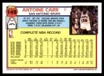 1992 Topps #149  Antoine Carr  Back Thumbnail