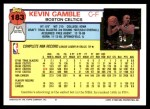 1992 Topps #183  Kevin Gamble  Back Thumbnail