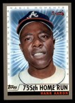2000 Topps #237 E  -  Hank Aaron 755th Career HR - Magic Moments Front Thumbnail