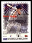 2000 Topps #239 E  -  Wade Boggs 3000th Career Hit - Magic Moments Back Thumbnail